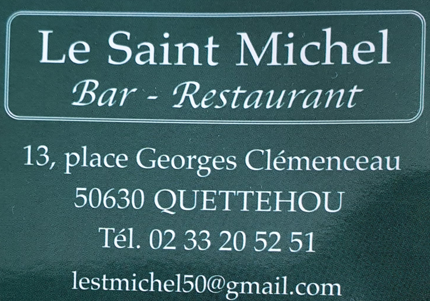 Le Saint Michel - Bar - Restaurant - Quettehou